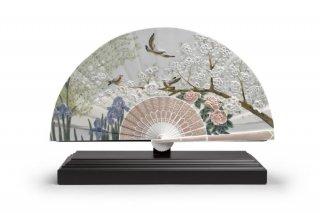 リヤドロ 人形  『扇(菖蒲と桜)  01001936 IRIS AND CHERRY FLOWERS FAN』
