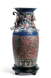 リヤドロ 人形  『オリエンタルドラゴン花瓶(赤)  01001954 ORIENTAL VASE (RED)』
