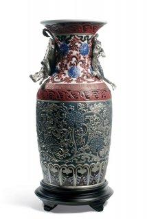リヤドロ 人形  『オリエンタルドラゴン花瓶(青)  01001955 ORIENTAL VASE (BLUE)』