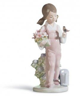 リヤドロ 人形  『小鳥と話す少女  01005217 SPRING』