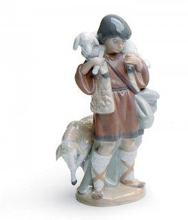 リヤドロ 人形  『羊飼い  01005485 SHEPHERD BOY』