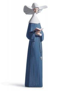 リヤドロ 人形  『朝のお祈り  01005500 PRAYERFUL MOMENT (BLUE)』