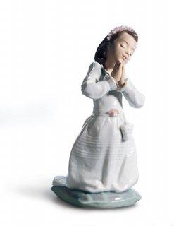 リヤドロ 人形  『少女の願い  01006089 COMMUNION PRAYER (GIRL)』