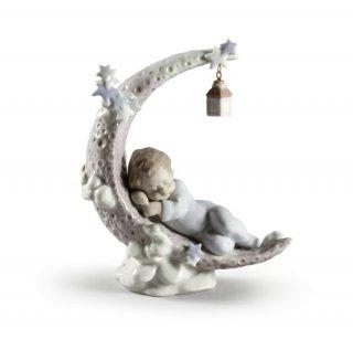 リヤドロ 人形  『お月様のベッド  01006479 HEAVENLY SLUMBER』