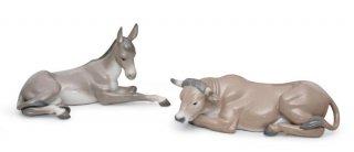 リヤドロ 人形  『アニマルボックスセット  01007810 SET ANIMALS AT BETHLEHEM (PORCELAIN) 』
