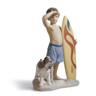 リヤドロ 人形  『いい波来るかな?  01008110 SURF'S UP』
