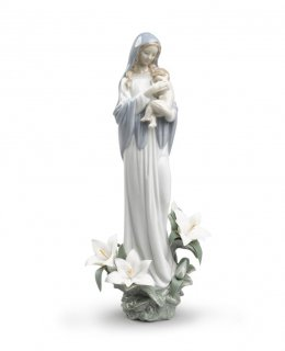 リヤドロ 人形  『聖なる母  01008322 MADONNA OF THE FLOWERS』