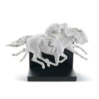 リヤドロ 人形  『ダービーの華  01008515 HORSE RACE 』