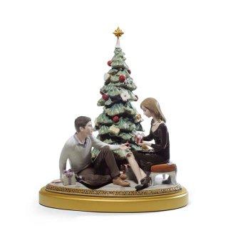 リヤドロ 人形  『ふたりのクリスマス  01008665 A ROMANTIC CHRISTMAS』