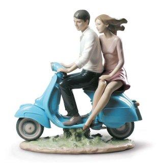 リヤドロ 人形  『バイクに乗って  01009231 RIDING WITH YOU』