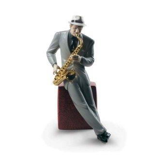リヤドロ 人形  『ジャズ サクソフォニスト  01009330 Jazz saxophonist』