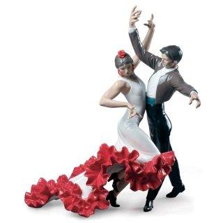 リヤドロ 人形  『フラメンコダンサー  01009333 Flamenco dancers Couple Figurine』