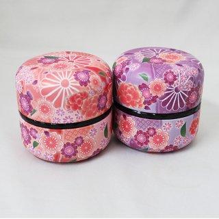 なつめ缶 茶缶 80g用 舞乙女 (桃・紫)