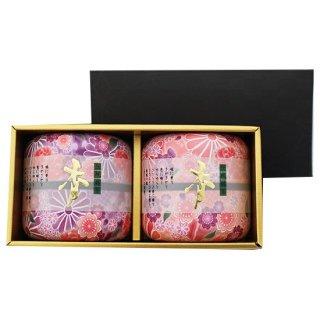 【大感謝祭】なつめ茶缶 上煎茶ギフト 70g×2 (桃*紫)
