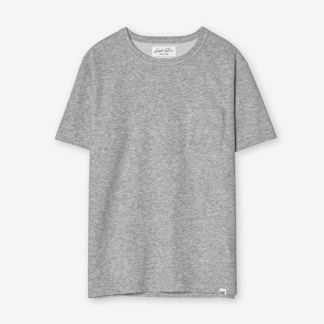 コットン&シルク クルーネックTシャツ / グレー