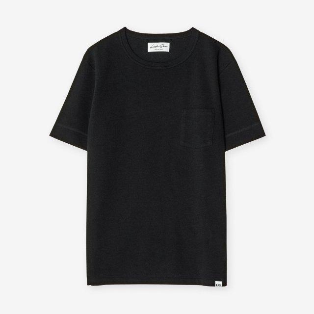 <span>Cotton & Silk Crew-neck T-shirts / Black</span>コットン&シルク クルーネックTシャツ / ブラック