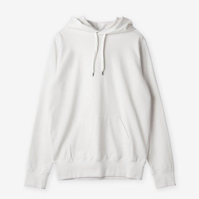 <span>Cotton&Silk Pullover Sweat Hoody / White</span>コットン&シルク プルオーバースウェットパーカー / ホワイト