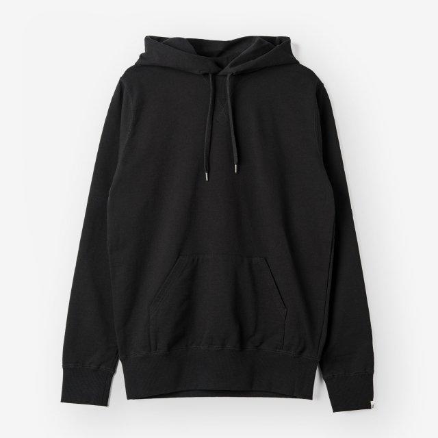 <span>Cotton&Silk Pullover Sweat Hoody /Black</span>【2019.02 LEON掲載】コットン&シルク プルオーバースウェットパーカー / ブラック