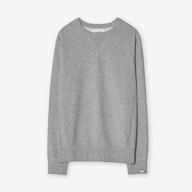 <span>Cotton&Silk Crew-neck Sweat Shirts / Grey</span>コットン&シルク クルーネックスウェット / グレー