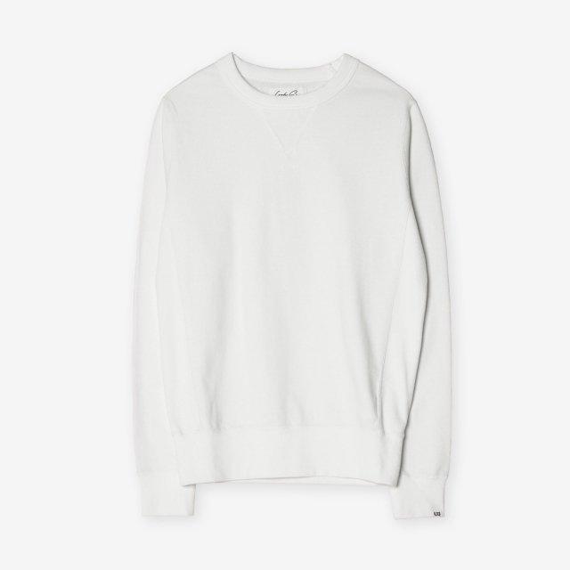 <span>Cotton&Silk Crew-neck Sweat Shirts / White</span>コットン&シルク クルーネックスウェット / ホワイト