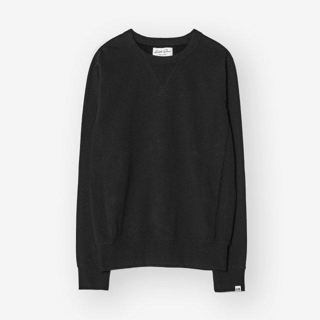 <span>Cotton&Silk Crew-neck Sweat Shirts / Black</span>コットン&シルク クルーネックスウェット / ブラック