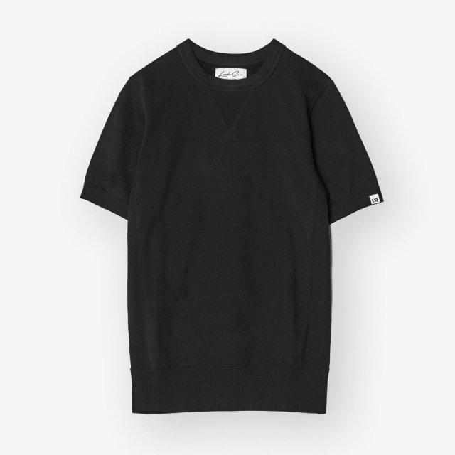 <span>Cotton&Silk Crew-neck Sweat T-shirts / Black</span>コットン&シルク クルーネックスウェットTシャツ / ブラック