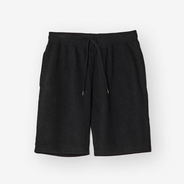 <span>Cotton&Silk Sweat Shorts / Black</span>コットン&シルク スウェットショーツ / ブラック