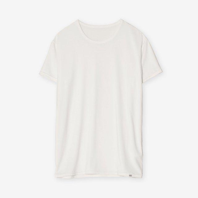 <span>Silk Inner Crew-neck T-shirts / White</span>シルク インナークルーネックTシャツ / ホワイト