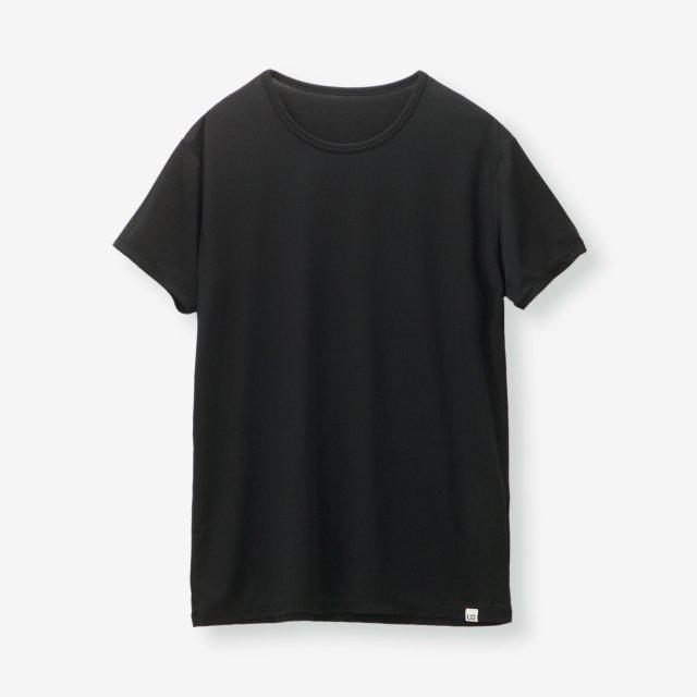 シルク インナークルーネックTシャツ / ブラック