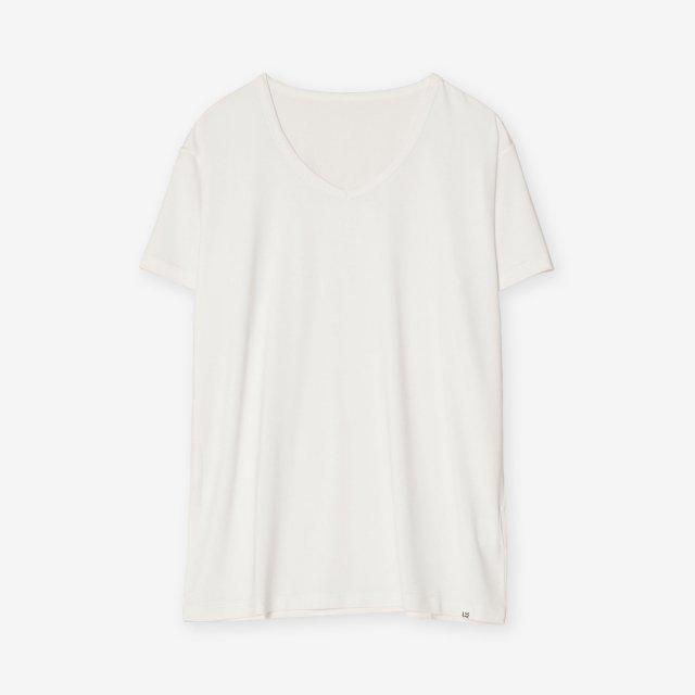 <span>Silk Inner V-neck T-shirts / White</span>シルク インナーVネックTシャツ / ホワイト