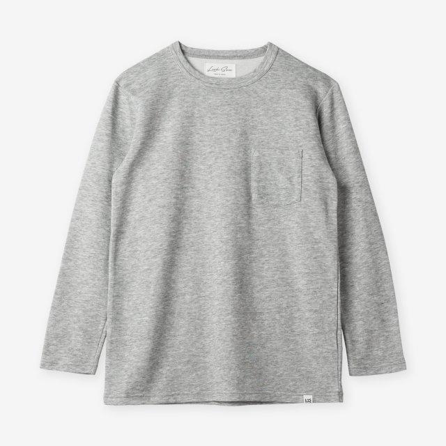 <span>Cotton&Silk Crew-neck Long Sleeve / Grey</span>コットン&シルク クルーネック長袖Tシャツ / グレー
