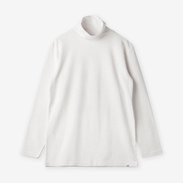 <span>Cotton&Silk Turtle-neck Long Sleeve / White</span>コットン&シルク タートルネック長袖Tシャツ / ホワイト