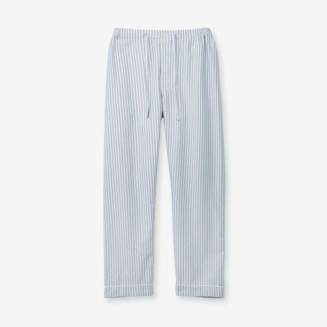 <span>Silk Pajama Pants / Stripe Sax&White</span>シルク パジャマパンツ / ストライプ サックス&ホワイト