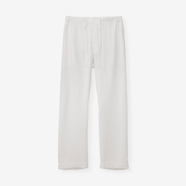 <span>Silk Pajama Pants / White End on End</span>【LEON7月号掲載】シルク パジャマパンツ / ホワイト無地