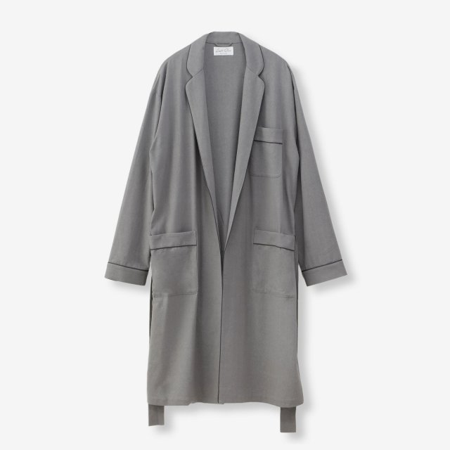<span>Silk Gown Court / Grey</span>シルク ガウンコート / グレー