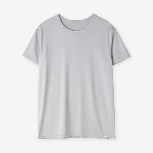 <span>Silk Inner Crew-neck T-shirts / Light grey </span>シルク インナークルーネックTシャツ / ライトグレー