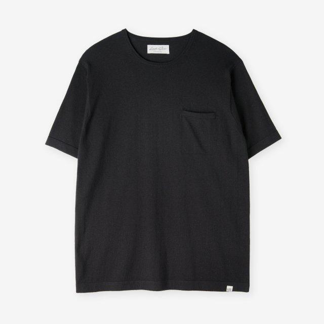 <span>Silk&Cotton&Cashmere Knit T-shirts / Black</span>シルク&コットン&カシミア ニットTシャツ / ブラック
