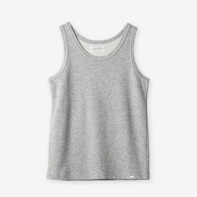 <span>Cotton&Silk Tank-top / Grey</span>コットン&シルク タンクトップ / グレー