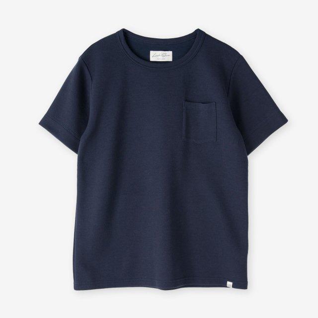<span>Cotton & Silk Crew-neck T-shirts / Navy</span>コットン&シルク クルーネックTシャツ / ネイビー