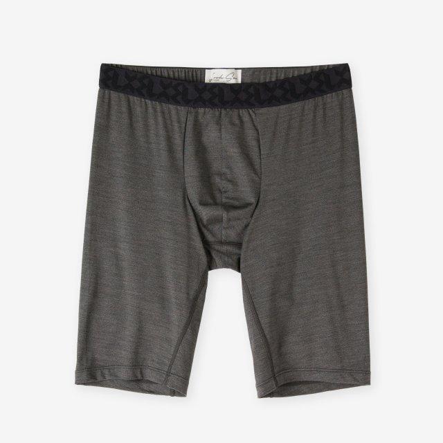<span>Silk Inner Long Boxer Briefs / Chacoal Grey</span>シルク ロングボクサーブリーフ / チャコールグレー