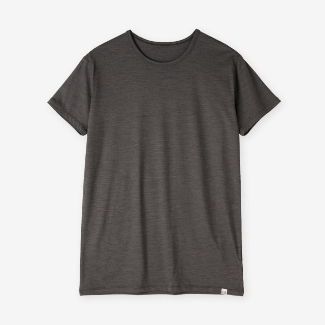<span>Silk Inner Crew-neck T-shirts / Chacoal Grey</span>シルク インナークルーネックTシャツ / チャコールグレー