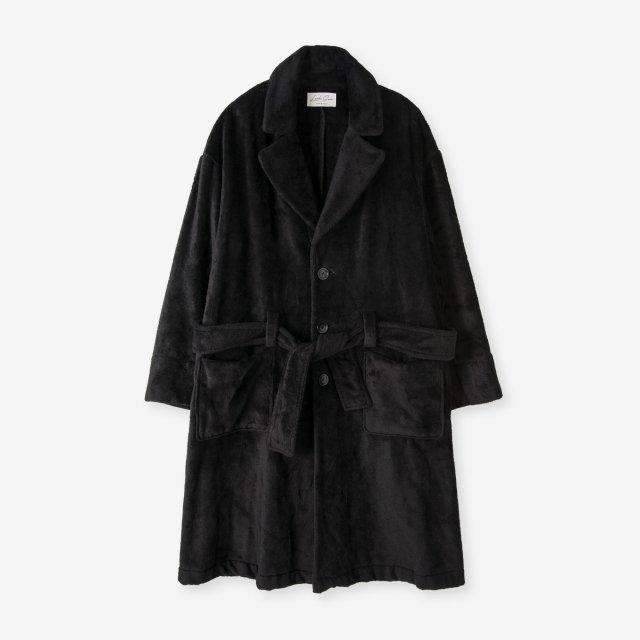 <span>Silk Boa Gown / Black</span>シルク 両面起毛ガウン / ブラック