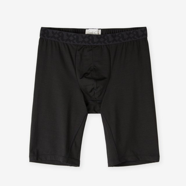 <span>Silk Inner Long Boxer Briefs / Black</span>シルク ロングボクサーブリーフ / ブラック