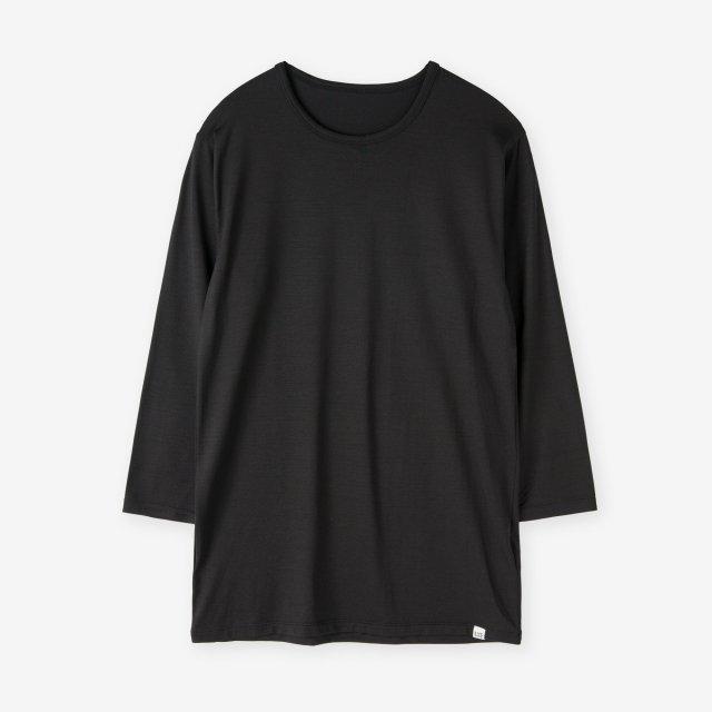 <span>Silk Inner Crew-neck three quarter sleeve / Black</span>シルク インナークルーネック7分袖Tシャツ / ブラック