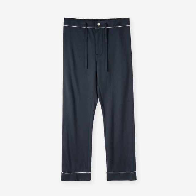 <span>Spun Silk Pajama Pants / Navy</span>絹紡シルク パジャマパンツ / ネイビー