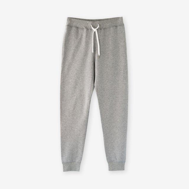 <span>Cotton&Silk Brushed Sweat Pants / Grey</span>コットン&シルク 裏毛起毛スウェットパンツ / グレー