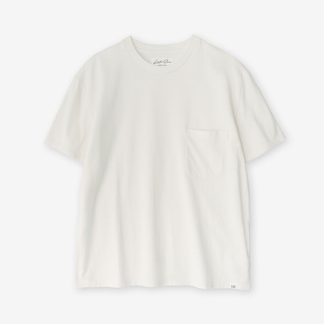 <span>Cotton&Silk Crew-neck Jersey T-shirts / Off White</span>【2019SS】コットン&シルク クルーネック天竺Tシャツ / オフホワイト