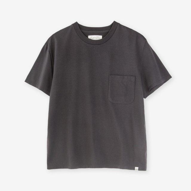 <span>Cotton&Silk Crew-neck Jersey T-shirts / C.Grey</span>コットン&シルク クルーネック天竺Tシャツ / チャコールグレイ