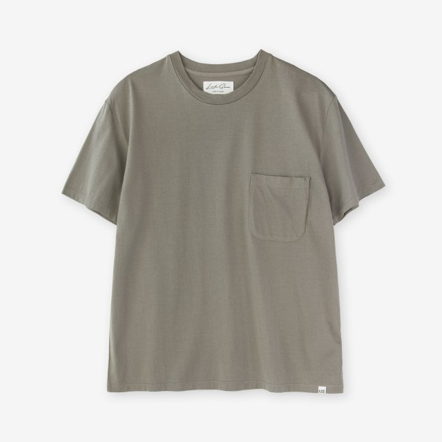 <span>Cotton&Silk Crew-neck Jersey T-shirts / Khaki</span>コットン&シルク クルーネック天竺Tシャツ / カーキ