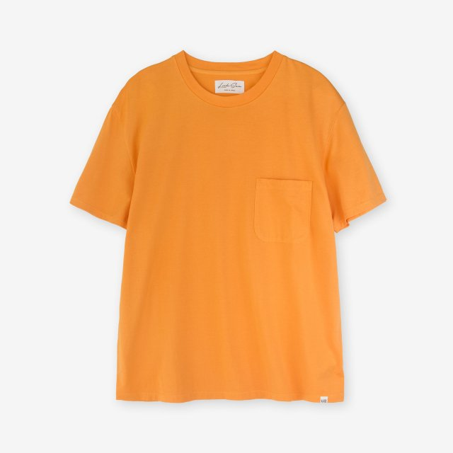 <span>Cotton&Silk Crew-neck Jersey T-shirts / Orange</span>コットン&シルク クルーネック天竺Tシャツ / オレンジ
